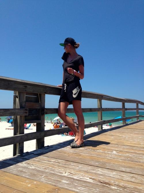 sporty beach visit
