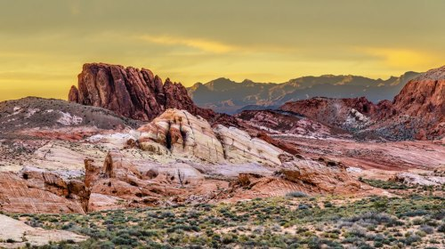 Sunset-at-the-Valley-of-Fire-in-Nevada
