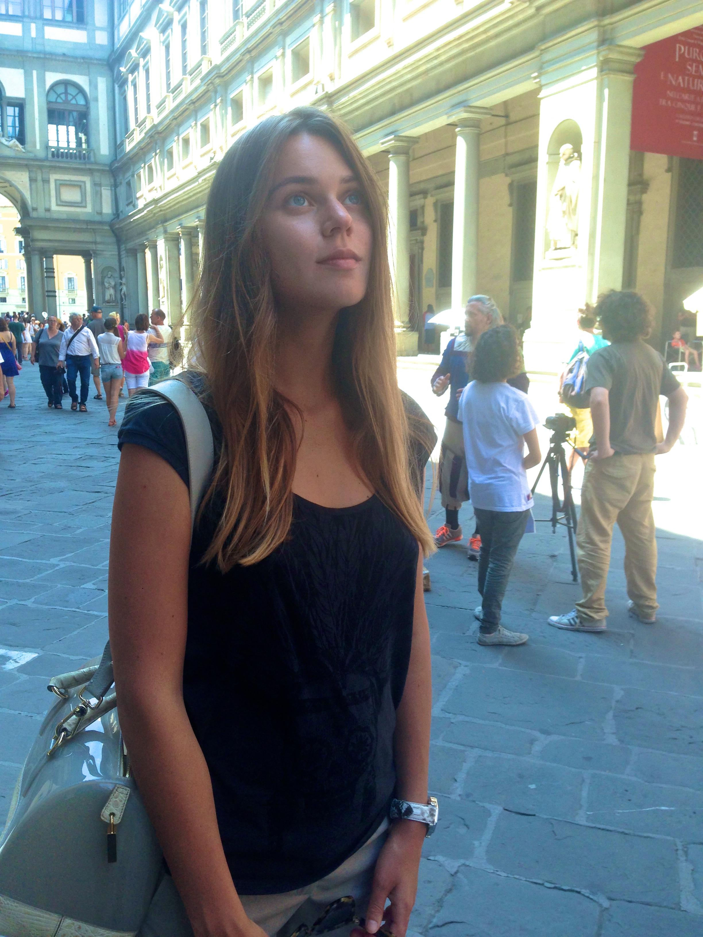 svetlana shashkova charmed by uffizi
