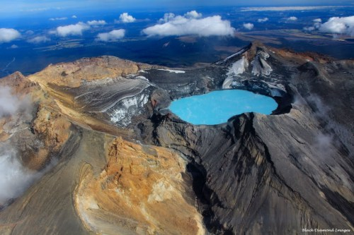 Crater Lake, Mt Ruapehu, Tongariro World Heritage National Park, North Island, New Zealand