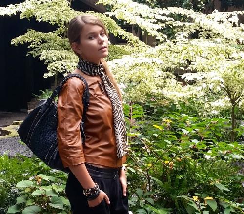 Svetlana after Armani show