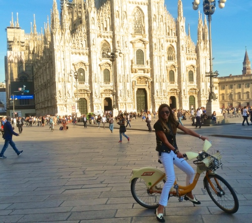 rocking chic in loafers near duomo