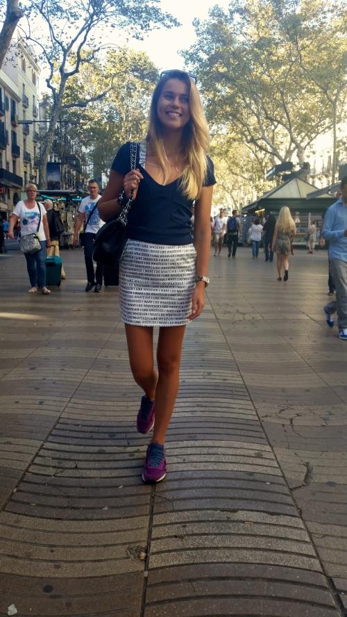 Walking in Rambla