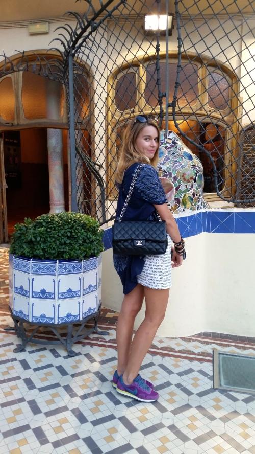 charmed by beauty of Gaudi