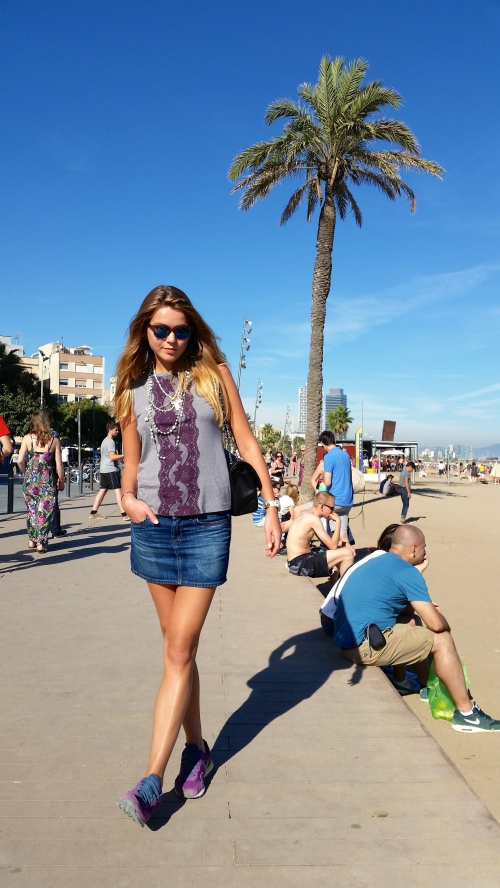 Free fly In  sunny Barcelona
