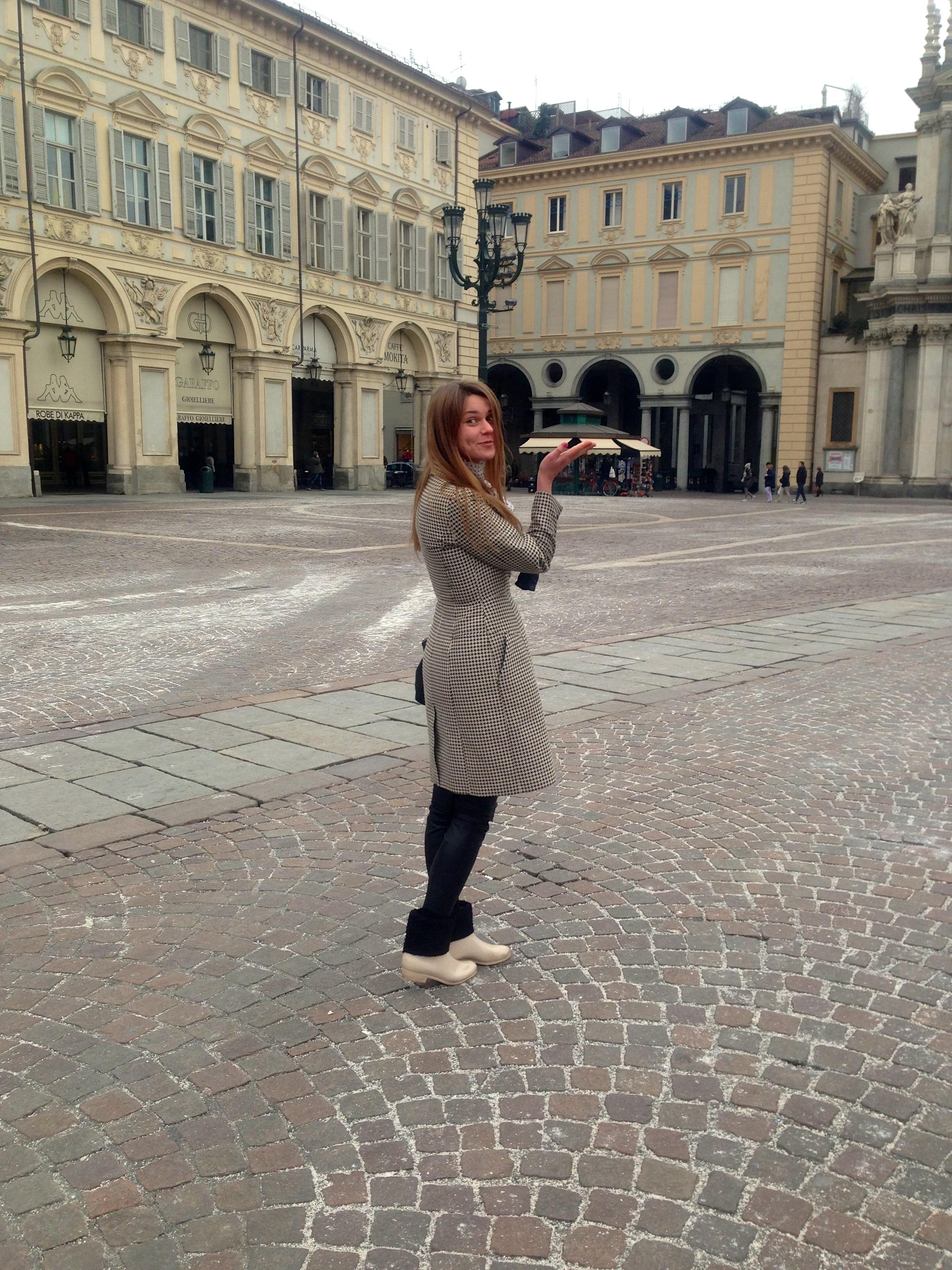 Svetlana shashkova in checket coat