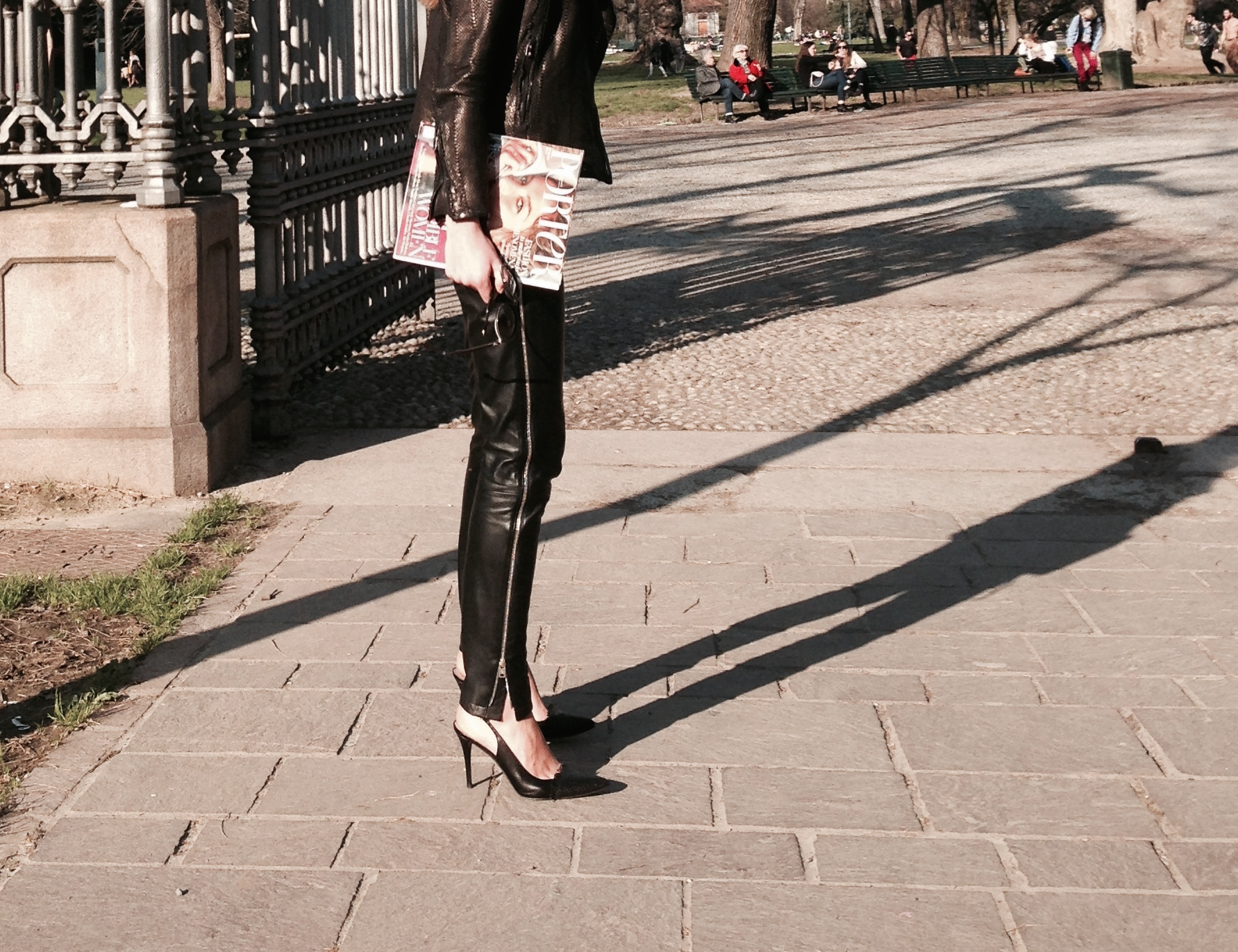 lether zip trousers mcq vs stuart weitzman pumps