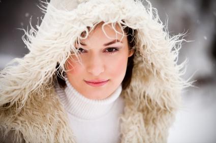 Beautiful skin in winter