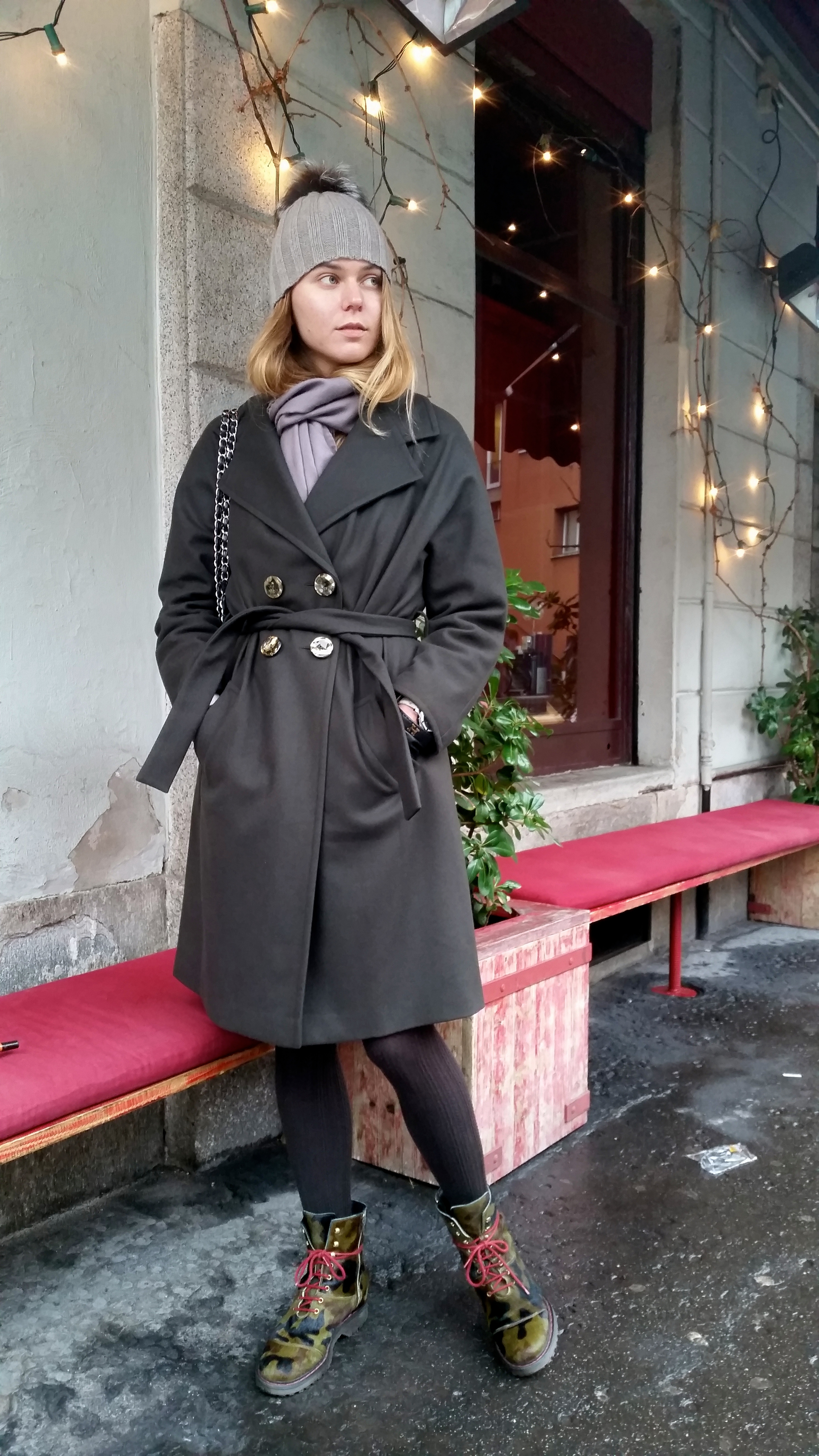 khaki coat you can wear with whtaever