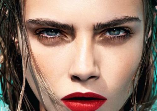Dense eyebrows