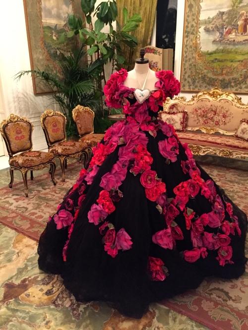 dolce gabbana couture flower dress