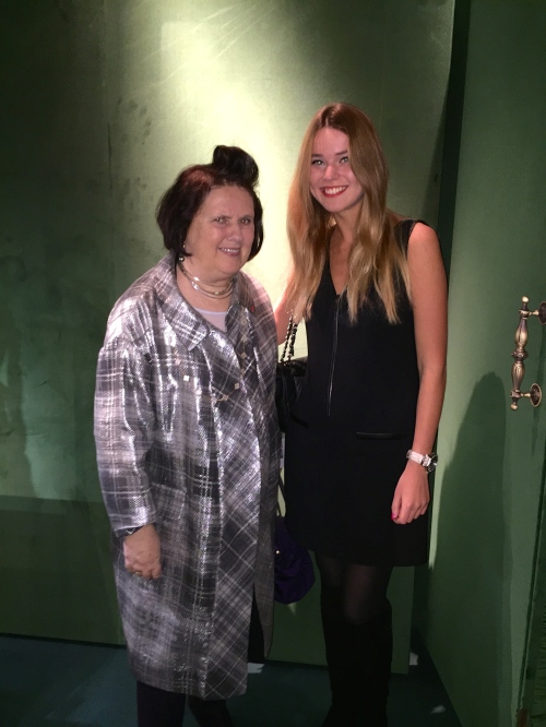 with queen of the speech Suzy Menkes