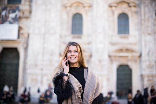 Smiling Svetlana Shashkova in fontana couture