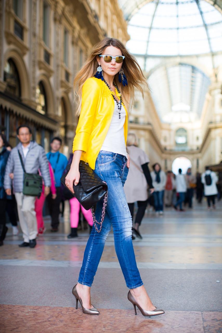 Svetlana Shashkova In dsquared jeans on mfw