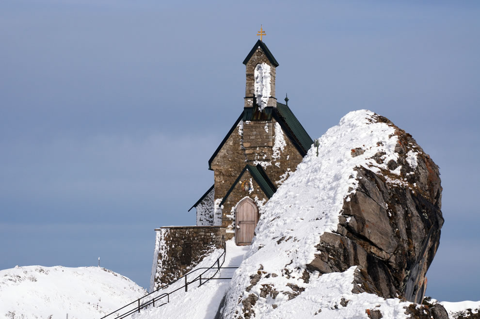 Church-at-the-summit-of-the-Wendelstein-mountain-Bavaria-Germany
