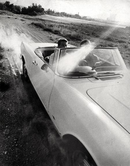 GETAWAY-ADVERTISEMENT-FOR-NATIONAL-BENZOLE-PETROL-CAMBER-SANDS-1963-II-by-NORMAN-PARKINSON-1913-1990-C29300