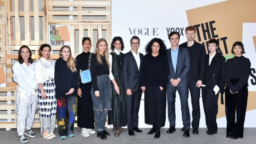 Federico Marchetti, Sara Sozzani Maino, Emanuele Farneti e i designer
